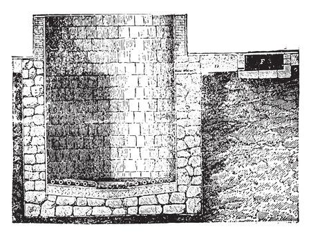 boiler: Marseille boiler, vintage engraved illustration. Industrial encyclopedia E.-O. Lami - 1875.