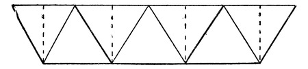 Simple system has large triangles, vintage engraved illustration. Industrial encyclopedia E.-O. Lami - 1875.