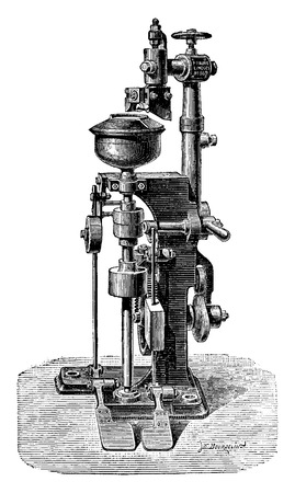 industrial machine: Calibrated machine, vintage engraved illustration. Industrial encyclopedia E.-O. Lami - 1875. Illustration