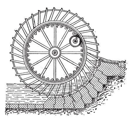 spoke: Dutch wheel, vintage engraved illustration. Industrial encyclopedia E.-O. Lami - 1875.