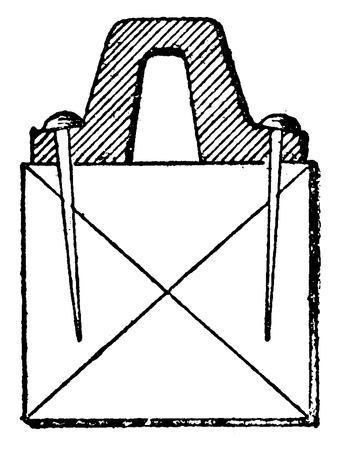 Brunel rail, vintage engraved illustration. Industrial encyclopedia E.-O. Lami - 1875.