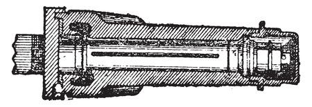 特許の車軸、ヴィンテージには、図が刻まれています。産業百科事典 e. o.ラミ - 1875年。