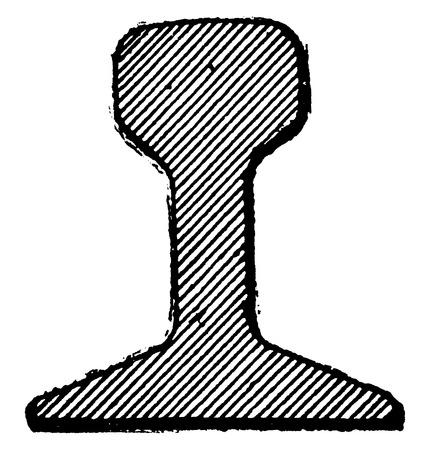 Ferrocarril Patin, ilustración de la vendimia grabado. E.-O. enciclopedia Industrial Lami - 1875. Ilustración de vector