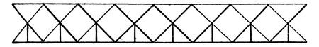 Triangular system at right angles (way down), vintage engraved illustration. Industrial encyclopedia E.-O. Lami - 1875.