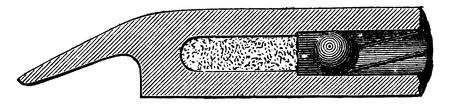 vintage rifle: Rifle room, vintage engraved illustration. Industrial encyclopedia E.-O. Lami - 1875. Illustration
