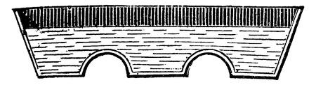 Boiler evaporation of vinasse from sugar beet, vintage engraved illustration. Industrial encyclopedia E.-O. Lami - 1875.