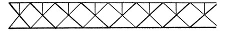 way up: Triangular system at right angles (way up), vintage engraved illustration. Industrial encyclopedia E.-O. Lami - 1875.