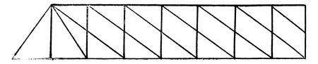 Type Whipple Linville, vintage engraved illustration. Industrial encyclopedia E.-O. Lami - 1875.