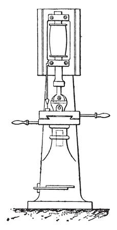 dug: Digging machine heels, vintage engraved illustration. Industrial encyclopedia E.-O. Lami - 1875.