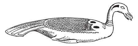 earthenware: Egyptian dishes, vintage engraved illustration.