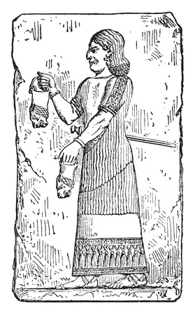 impotent: Eunuch, vintage engraved illustration.