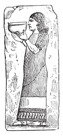 archaeological: Eunuco, vintage grabado ilustraci�n. Vectores