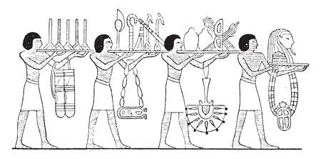 Sacred objects, vintage engraved illustration. Illustration