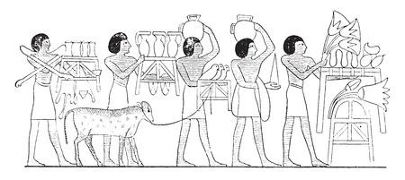 Sacred objects, vintage engraved illustration. Иллюстрация