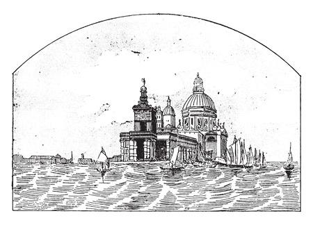 black maria: Customs in Venice, vintage engraved illustration.