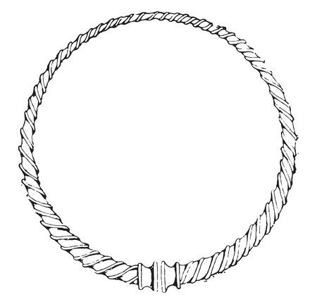 torque: Torque Gauls, vintage engraved illustration.