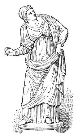 conjurer: Magician, vintage engraved illustration. Illustration