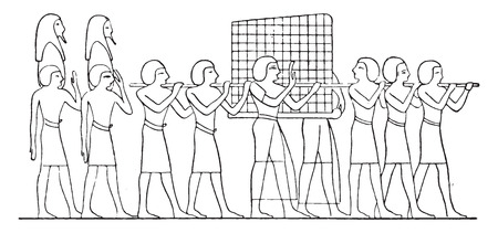 шпон: Ящик маркетри, старинные гравированные иллюстрации. Иллюстрация
