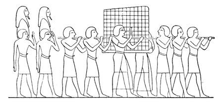 marqueteria: La marquetería cajón, ilustración de la vendimia grabado.