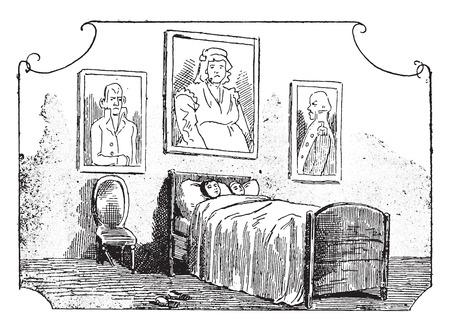 bureaucrat: The landammanns of Trun, vintage engraved illustration. Illustration
