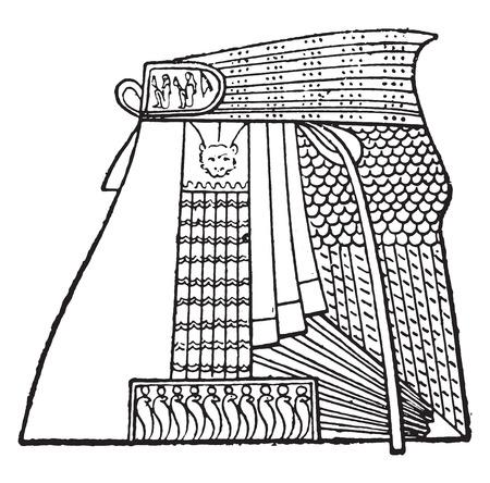 Egyptian apron, vintage engraved illustration Ilustrace