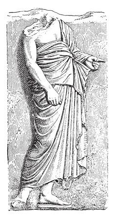 The Pallium, vintage engraved illustration.