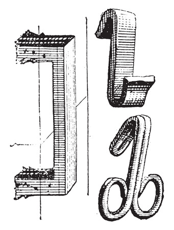 Clips, vintage engraved illustration. Dictionary of words and things - Larive and Fleury - 1895.