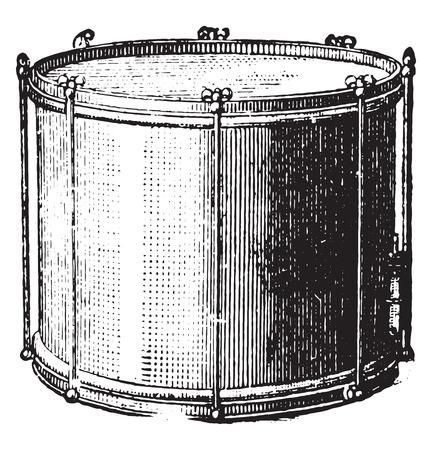 snare: Snare drum rods, vintage engraved illustration. Industrial encyclopedia E.-O. Lami - 1875.