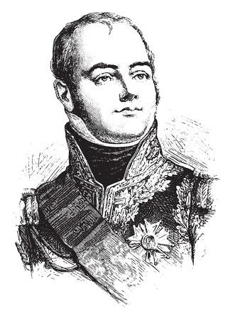 Macdonald, vintage engraved illustration. History of France – 1885. Stock Vector - 42013919