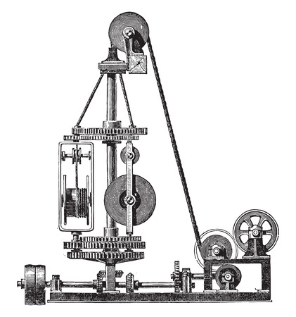industrial machine: Machine wire, vintage engraved illustration. Industrial encyclopedia E.-O. Lami - 1875.