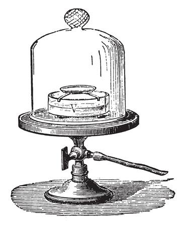 レスリーは、真空、ヴィンテージの刻まれた図中の水の凍結を経験します。産業百科事典 e. o.ラミ - 1875年。