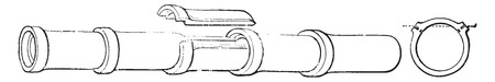 Stoneware pipe, vintage engraved illustration. Industrial encyclopedia E.-O. Lami - 1875.