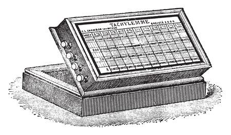 Tachylemme、ヴィンテージには、図が刻まれています。産業百科事典 e. o.ラミ - 1875。