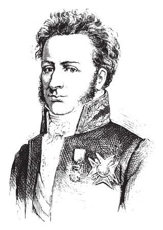 magistrate: Guernon-Ranville, vintage engraved illustration. History of France – 1885.