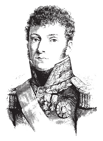 Molitor, vintage engraved illustration. History of France – 1885. Stock Vector - 42023608