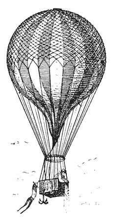 Balloon: Balloon, vintage minh họa khắc. Từ điển từ và thứ - Larive và Fleury - 1895.