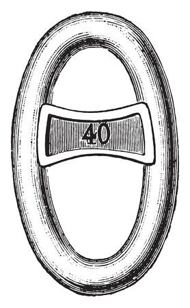 mesh: Reinforcement mesh, vintage engraved illustration. Industrial encyclopedia E.-O. Lami - 1875. Illustration