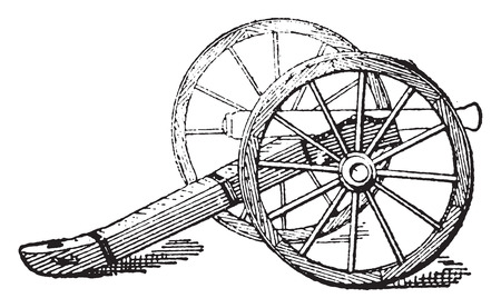 pushcart: Carriage, vintage engraved illustration. Dictionary of words and things - Larive and Fleury - 1895.