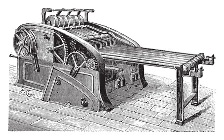 Spreader linen, vintage engraved illustration. Industrial encyclopedia E.-O. Lami - 1875.