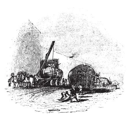 manufactory: Boiler manufactory, vintage engraved illustration. Illustration