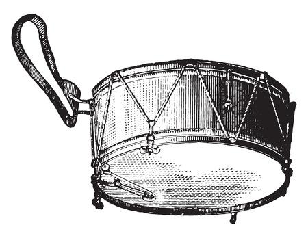 the encyclopedia: Tarole strings, vintage engraved illustration. Industrial encyclopedia E.-O. Lami - 1875.