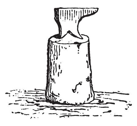 anvil: Anvil blacksmith, vintage engraved illustration.
