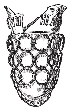 earthenware: Jarr�n de Estrasburgo, ilustraci�n de la vendimia grabado. Vectores