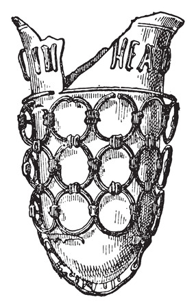 earthenware: Vase of Strasbourg, vintage engraved illustration.