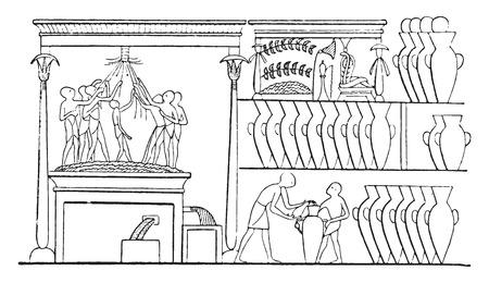 wine making: Wine making, vintage engraved illustration. Illustration