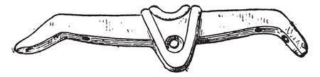 yoke: Etruscan yoke, vintage engraved illustration.