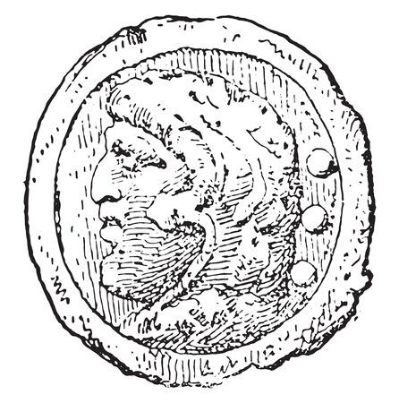 hercules: Hercules, vintage engraved illustration. Illustration