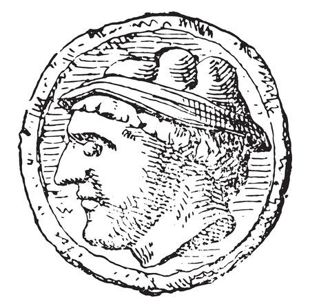 old mercury: Mercury, vintage engraved illustration.