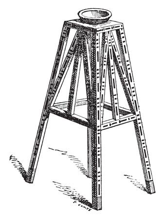 manmade: Support for a vase, vintage engraved illustration. Illustration