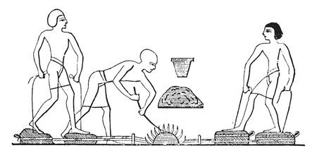 forge: Forge, vintage engraved illustration. Illustration